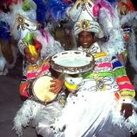 Musicians dressed in Carnival costumes in Rio de Janeiro