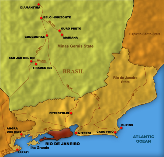 Map of Rio de Janeiro Nearby Sights